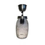 Vintage barrel jar pendant