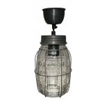 Vintage caged barrel jar pendant