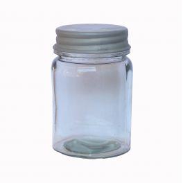 Storage jar with zinc lid h.12 d.8