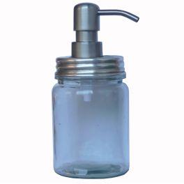 Soap dispenser, antique silver lid h.18 d.8
