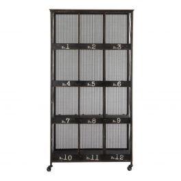 Indus 12 pigeonhole rack on castors, metal W 95 x D 36 x H 181