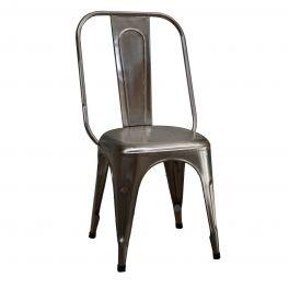Indus metal chair, nickel